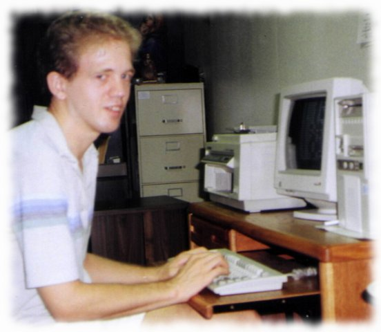 Johnny at computer